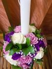 lumanare trandafiri lysanthus floarea miresei ruscus olandez Purple And Green Wedding, Candle Holders, Candles, Table Decorations, Home Decor, Green Purple Wedding, Decoration Home, Room Decor, Porta Velas