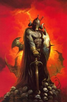 Hades - Greco - Roman god of the Underworld and wealth  (because all precious metals or jewels that are in the ground belong to him). He is one of the twelve Olympians. His symbol is the Helmet of Darkness which makes him invisible when worn.
