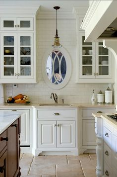 great idea (if no window in front of sink) hang mirror so as not to be looking at blank wall.