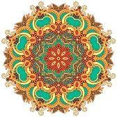 haft : Ornament Circle, ozdobnych koronek runda
