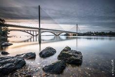 Pont à Brest, Bretagne.