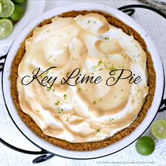Lots of little Key Limes are used to make this pie that's sure to tantalize your taste buds with its creamy sweet and tart goodness. Top with meringue or fresh whipped cream. Key Lime Pie source: My Recipes PRINT RECIPE Ingredients: 1 1/4 cups graham cracker crumbs* 1/4 cup firmly packed light brown sugar 1/3...Read More