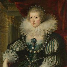 Anna van Oostenrijk (1601-1666). Echtgenote van Lodewijk XIII, koning van Frankrijk, Peter Paul Rubens, 1625 - 1626 - Rijksmuseum