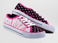 Youth and Womens Zany Zebra Lace Up
