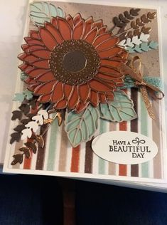 Fall Cards, Christmas Cards, Sunflower Cards, Leaf Cards, Hand Made Greeting Cards, Stampin Up Catalog, Stamping Up Cards, Thanksgiving Cards, Scrapbook Cards
