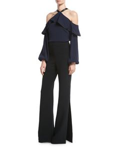Wide-Leg+Pants+&+Top+by+Alexis+at+Neiman+Marcus.