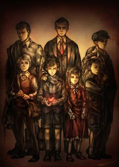 The Non-Existent Photograph by inklou.deviantart.com on @deviantART The artist explains it a bit if you click through. Basically, it's the main characters and their fathers together in a photo — a photo that can't exist, canonically.