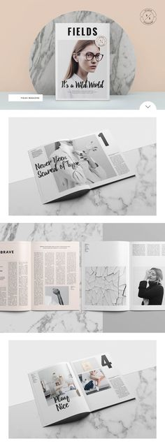 Fields Magazine by Studio Standard on @creativemarket
