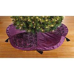 Purple tree skirt.
