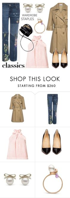 """Tried and True: Wardrobe Staples"" by littlehjewelry ❤ liked on Polyvore featuring RED Valentino, Alexander McQueen, Ulla Johnson, Christian Louboutin, contestentry, WardrobeStaples, pearljewelry and littlehjewelry"