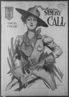 """""""Local Color,"""" San Francisco Call (San Francisco, CA), April page Library of Congress, Chronicling America: Historic American Newspapers. Local Color, Library Of Congress, Coloring Books, San Francisco, Printables, Cool Stuff, American, Illustration, Vintage"""