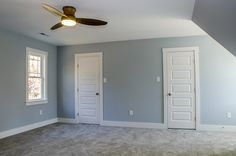 Roomy master bedroom with his and hers #closet #closetideas #Balducci Builders, Inc.