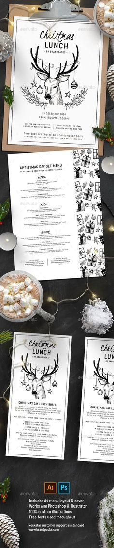 #Christmas #Menu Vol. 2 - #Food Menus Print Templates