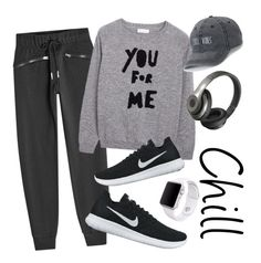 """""""Chill"""" by mirka-smalova on Polyvore featuring adidas, NIKE, SO, Beats by Dr. Dre and Apple"""