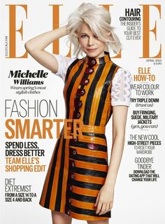 "Michelle Williams Covers Elle U., Admits Being a Single Working Mom Leaves Her ""Feeling Pretty Exhausted"" Michelle Williams, ELLE UK V Magazine, Fashion Magazine Cover, Fashion Cover, Magazine Covers, Magazine Design, Vanity Fair, Marie Claire, Nylons, Michelle Williams Hair"