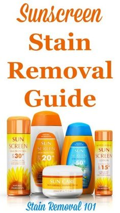 sunscreen stains no more sunscreen stains deep cleaning and clean house. Black Bedroom Furniture Sets. Home Design Ideas