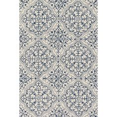Loloi Rugs Francesca Blue & White Floral Area Rug & Reviews | Wayfair