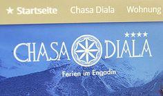 Das üppige Design der Website passt stimmungsvoll zur Innenaustattung der Hütte. Bequem kann man mittels eines Online-Belegungsprogramms, von Zuhause aus, einen oder mehrere Tage in der Hütte buchen.  http://www.chasadiala.ch/
