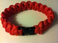 Para cord braided bracelet, Red, 9 in (P013/P014) on Etsy, $7.50