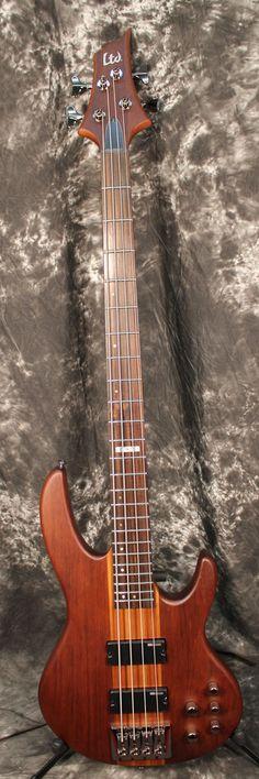 2016 ESP LTD D-4 Electric Bass Guitar Satin Natural
