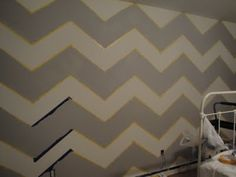 how to paint a chevron wall -- doing this in my laundry room with dark grey and light grey thanks for the math and it looks great