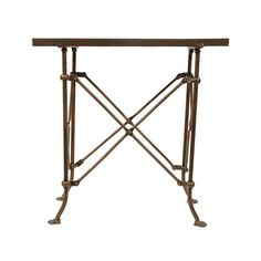 Fashioned of bronze-finished metal, this characteristic table belongs in a room of stylish mystery. Its insect-like legs capped by four tiny feet create a whimsical, yet artistic nature that works exce...  Find the In Character Rectangular Table, as seen in the The Ivies Collection at http://dotandbo.com/collections/the-ivies?utm_source=pinterest&utm_medium=organic&db_sku=101754