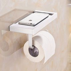 24.36$  Watch now - http://alivqa.shopchina.info/go.php?t=32719220591 - 1 Pcs Alumiumn Wall Mounted Square Thick Bath Toilet Paper Holders Tissue Waterproof Hanger Bathroom Accessories   24.36$ #magazine