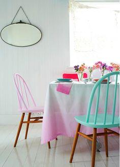 DIY Dip Dye: meubels met een zomerse look