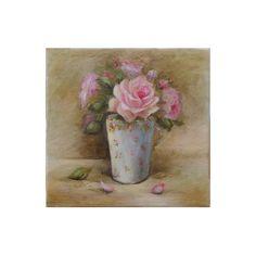 Petit Trianon roses , Original oil  painting  Helen Flont