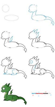 Commentaire dessiner non dragon Pour les enfants 3020
