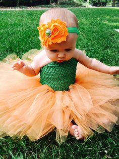 Pumpkin Tutu, Pumpkin Tutu Dress, Pumpkin Costume, Baby's First Halloween, Pumpkin Tutu Costume