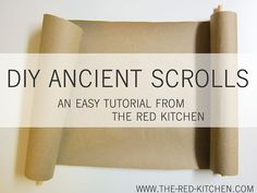 Egyptian Party : the red kitchen: DIY Ancient Scrolls Tutorial Ancient Greece, Ancient Egypt, Ancient History, Ancient Art, Art History, Bible Crafts, Paper Crafts, Vbs Crafts, Diy Paper