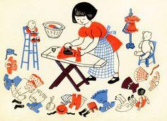 Sweet vintage illustration from Lois Lenski.