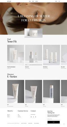 Web Design Trends, Ecommerce Website Design, Cosmetic Web, Cosmetic Design, Website Layout, Website Design Inspiration, Marketing Website, Fashion Business, Minimal Web Design