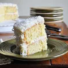 Coconut Cake - the perfect amount of coconut, yet not too sweet....delicious!