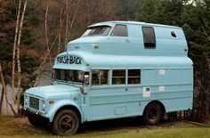 hahaha, Emily Schoenfeld Schoenfeld Shannon I'm sure you know who to show this to! how to remodel a Truck Camper School Bus Camper, Rv Bus, Truck Camper, Camper Trailers, Camper Van, School Buses, Converted Bus, Bus Living, Short Bus