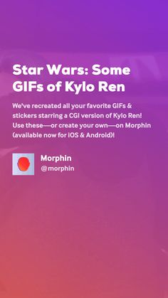 We've recreated all your favorite GIFs & stickers starring a CGI version of Kylo Ren! Movie Gifs, Cgi, Create Yourself, Angels, Star Wars, Stars, Angel, Sterne, Starwars