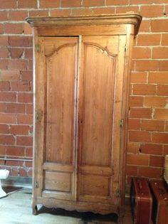 Antique English Pine Armoire  Antiques English and Pine