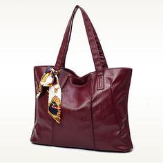 Women Classical Cowhide Scarves Decoration Handbag Casual Genuine Leather Hangbag
