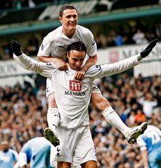 Dimitar Berbatov and Robbie Keane Tottenham Hotspur.