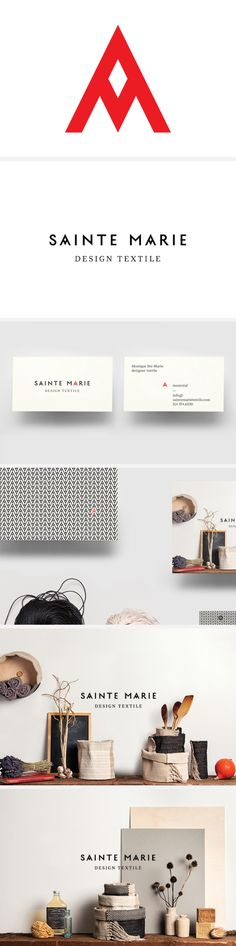 Branding for Montreal-based textile designer Monique Ste-Marie. Design by La Mamzelle & Co.