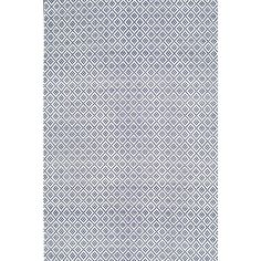 nuLOOM Diamonds Cotton Trellis Navy 5 ft. x 8 ft. Area Rug