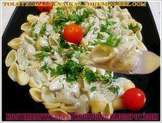 ΑΧΙΒΑΔΕΣ ΜΕ ΣΑΛΤΣΑ ΡΟΚΦΟΡ!!! - Νόστιμες συνταγές της Γωγώς! Macaroni And Cheese, Pasta, Chicken, Meat, Ethnic Recipes, Food, Mac And Cheese, Eten, Noodles