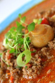 Rödcurrygryta med köttfärs & svamp | Jennys Matblogg