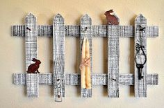 Rustic Decor Picket Fence Hat Rack Coat Key by TheCrickettyCottage, $35.00