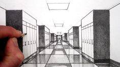 How to Draw 1-Point Perspective for Beginners: A Hallway