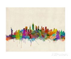 New York City Skyline Photographic Print by Michael Tompsett - by AllPosters.ie