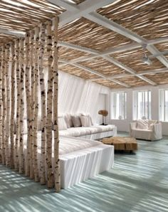 Room Divider - and ceiling would be cool for an outdoor space - love the lighting effect