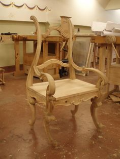Joinery and Carving - Chair, front by Haralds Gerts
