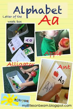 Weekly lessons that focus on a letter of the alphabet and numbers with themes and activities.